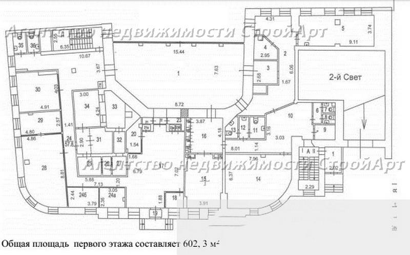 Аренда здания под банк, офис м.Полянка, Б.Полянка 2/10С1, 2554 кв.м  без комиссии