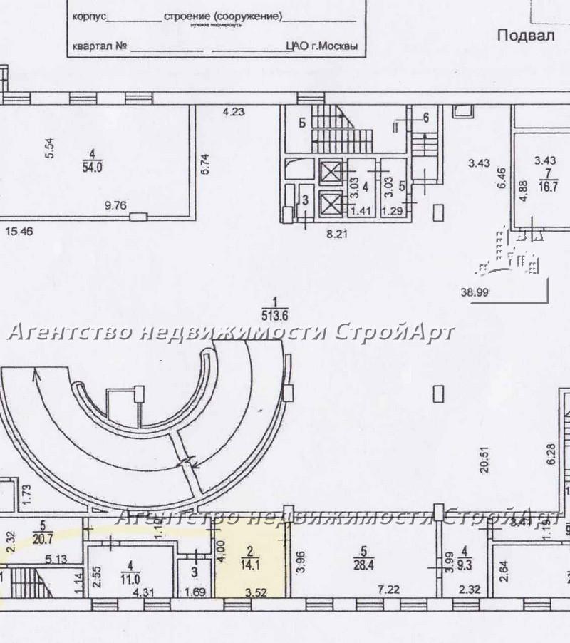 5049 аренда помещения под банк м. Тверская, Леонтьевский пер. 25,  без комиссии