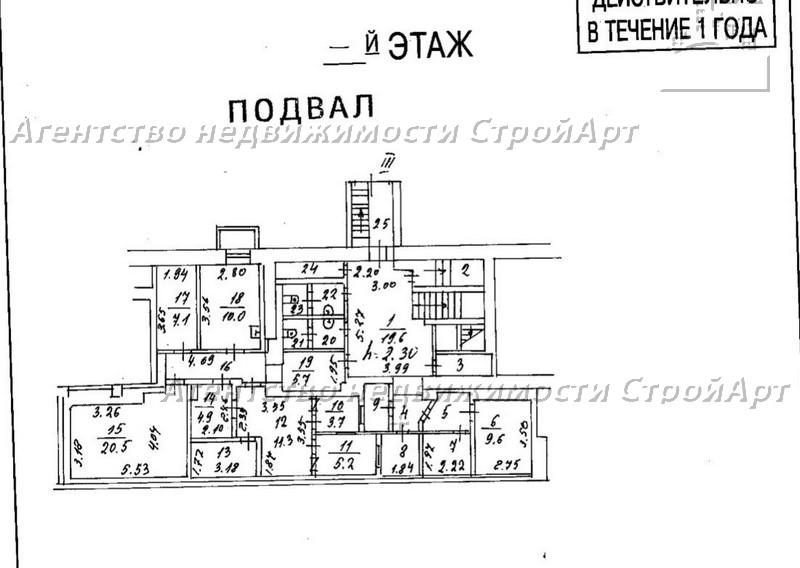 5057 Аренда помещения под банк Симоновский вал 26к1, 396 кв.м без комиссии