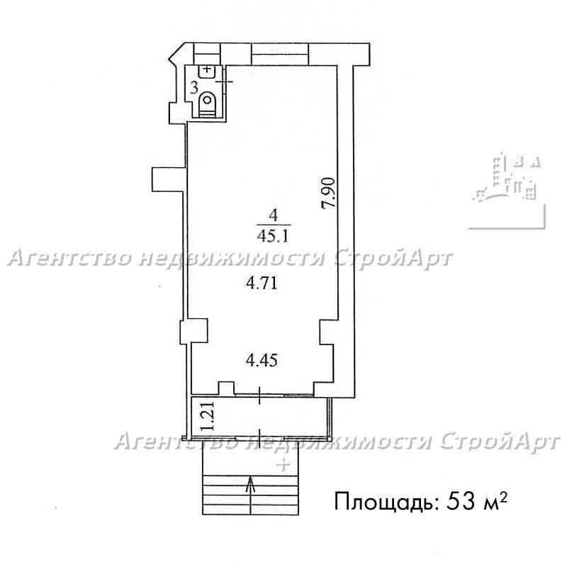 5061 Аренда помещения под банк 53 м2 м. Спортивная, ул. Усачева 29к3 без комиссии