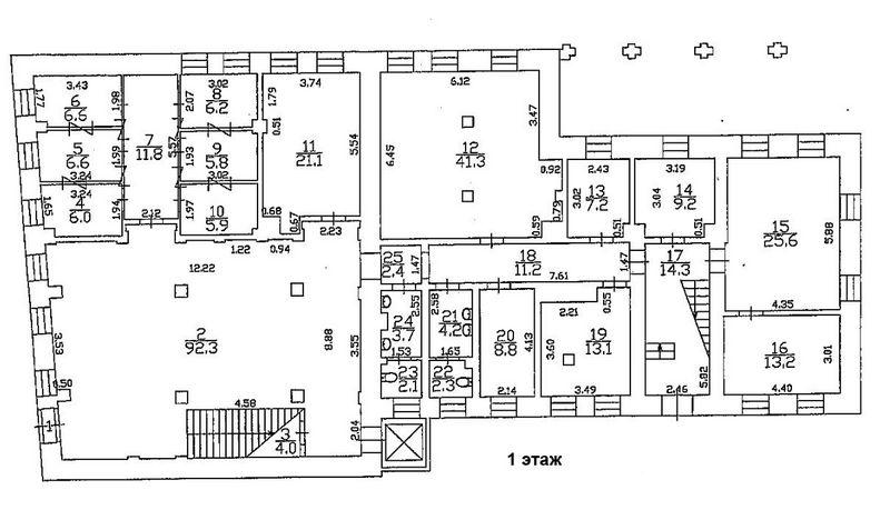 5098 Аренда здания банка 1729 кв.м г. Москва, м. Чеховская, Петровский пер., 10С2 без комиссии