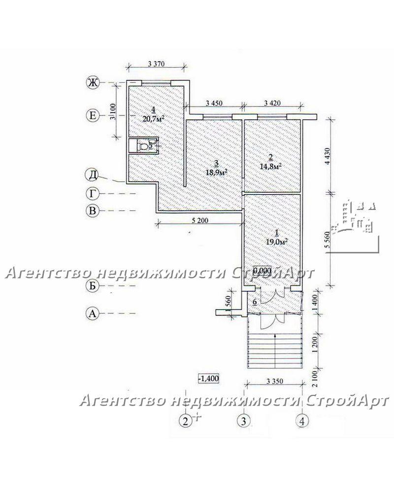 5143 Аренда помещения 74 кв.м м. Крылатское, Осенний бульвар 16к1 без комиссии