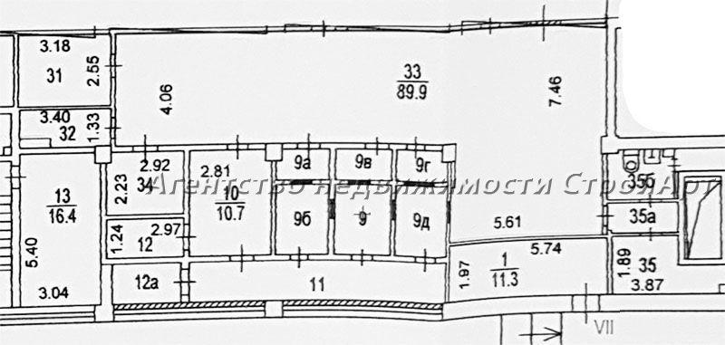 5182 Аренда помещения под банк  Рязанский проспект 32к3, 176 кв.м без комиссии