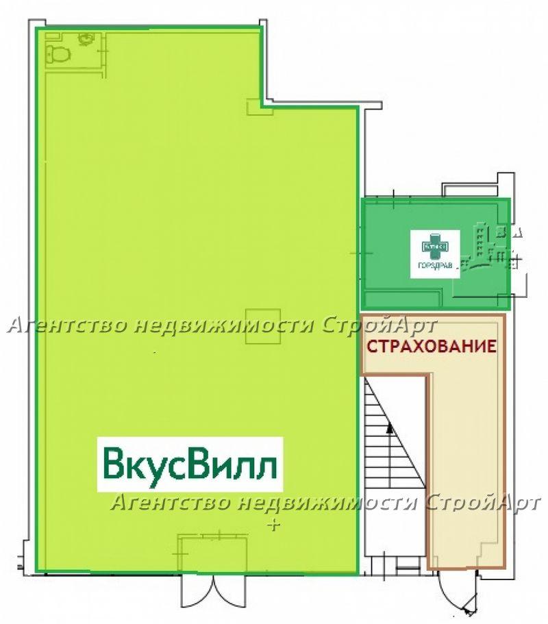 5187 Продажа торгового помещения г. Москва, Сколковское шоссе 32, 139 кв.м без комиссии