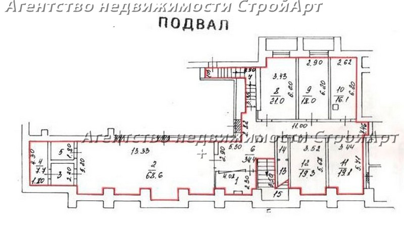 5258 Аренда помещения банка 731кв.м, ул. Малая Дмитровка, 24/2, без комиссии