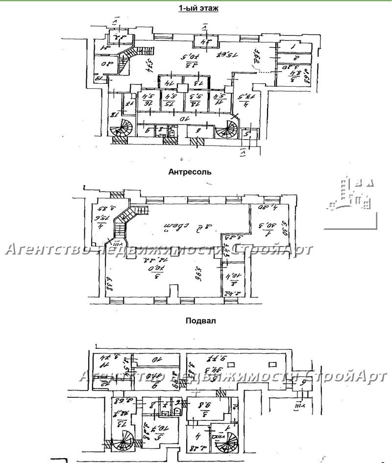 5292 Аренда нежилого помещения на Садовом кольце, Садовая-Черногрязская 13/3с1, 436,6 кв.м, без комиссии