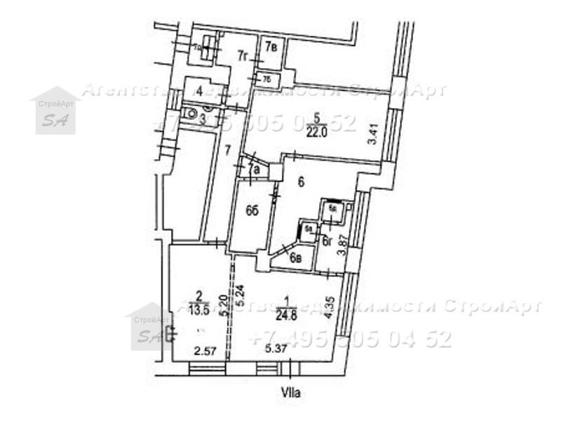 7136 Аренда помещения банка м. Проспект мира, Орлово-Давыдовский пер. д. 2/5, корп. 1,  107 кв.м