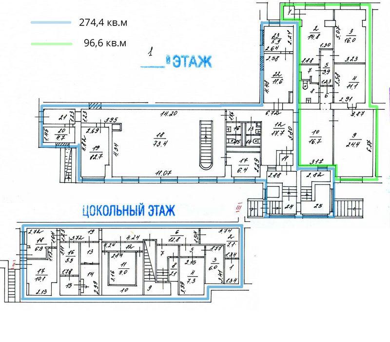 7233 Аренда помещения под банк 371 м2,  м. Цветной бульвар, 1-й Волконский переулок, 15