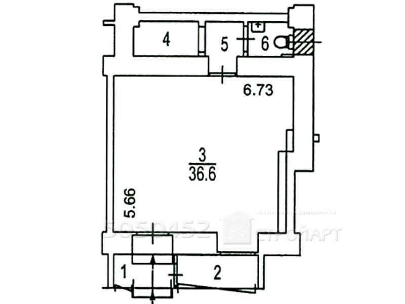 7358 Аренда помещения под банк  Ленинский проспект 67, 53 кв.м без комиссии