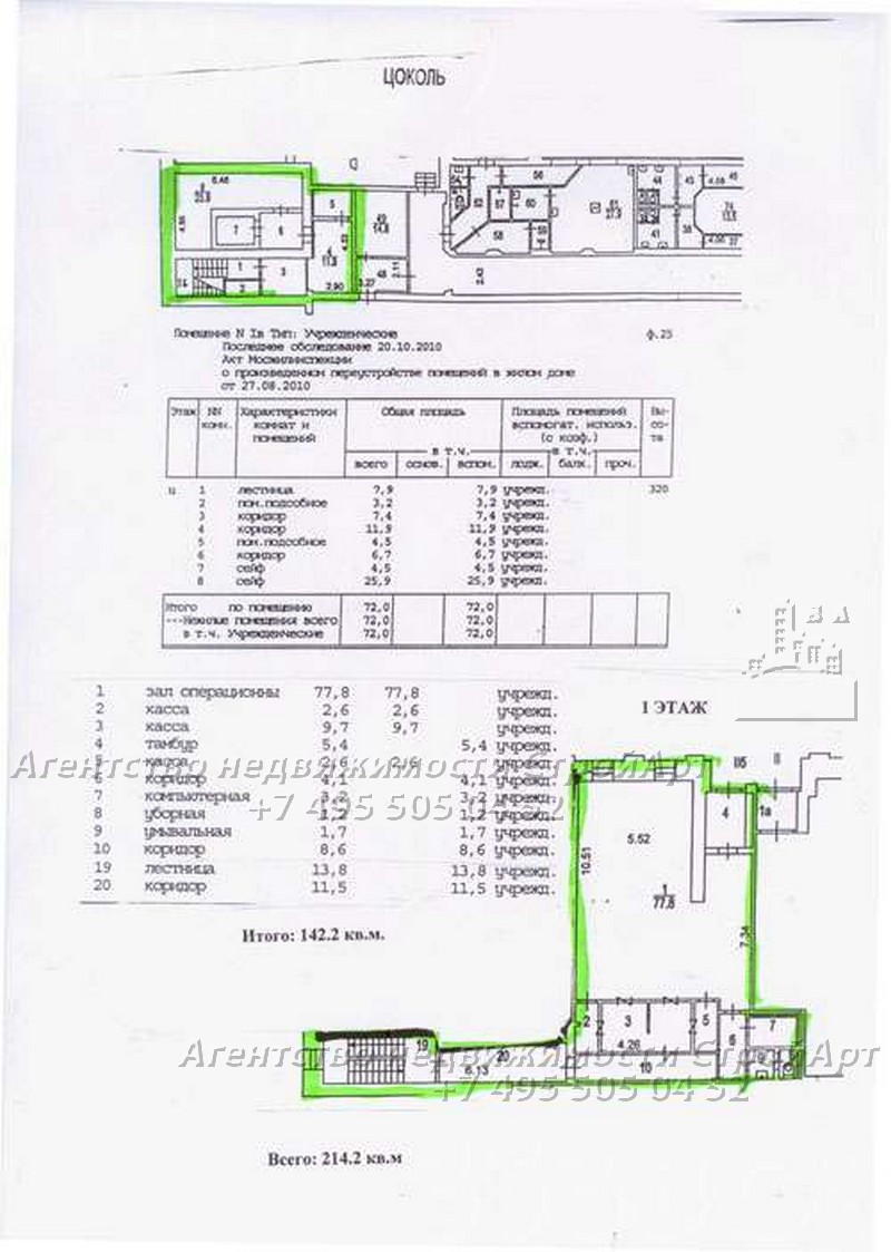 7383 Аренда помещения под банк  214 кв.м Новочеремушкинская д.66, без комиссии