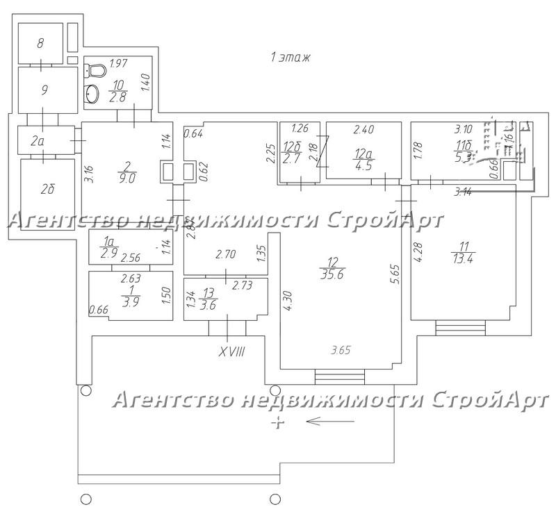 7546 Нежилое помещение 83,7кв.м в аренду м. Перово, Зеленый проспект 22, без комиссии!