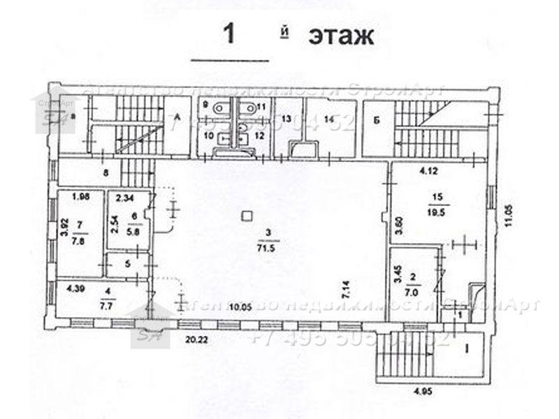 7602 Особняк под банк в аренду м. Сухаревская, Б. Головин пер д.23, 762 кв.м от собственника