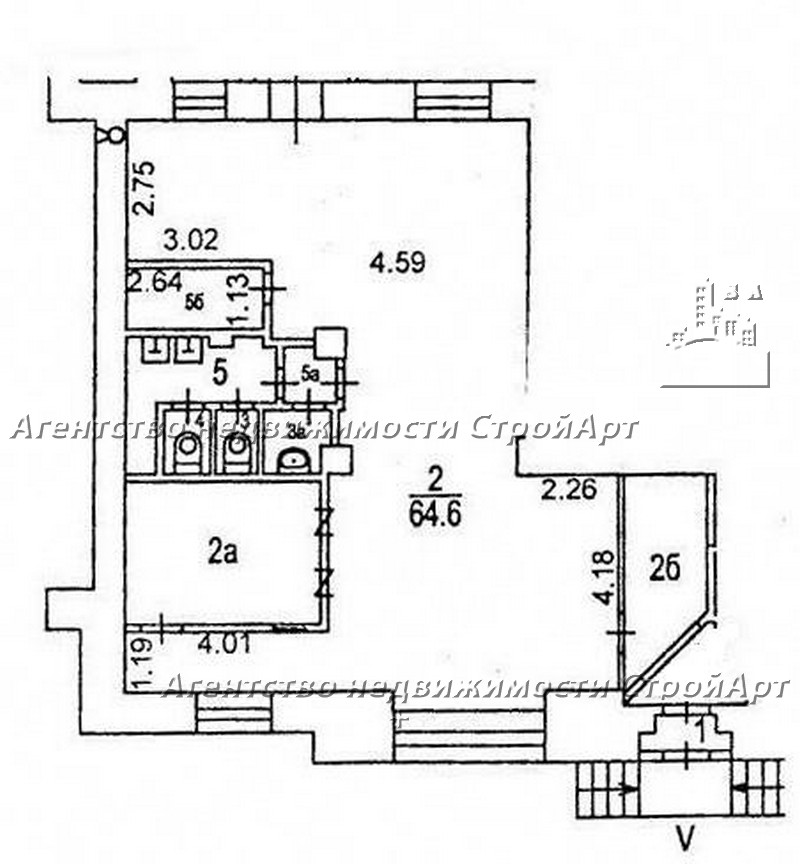 7670 Аренда помещения банка м. Рижская, Проспект мира д.79, 95 кв.м без комиссии
