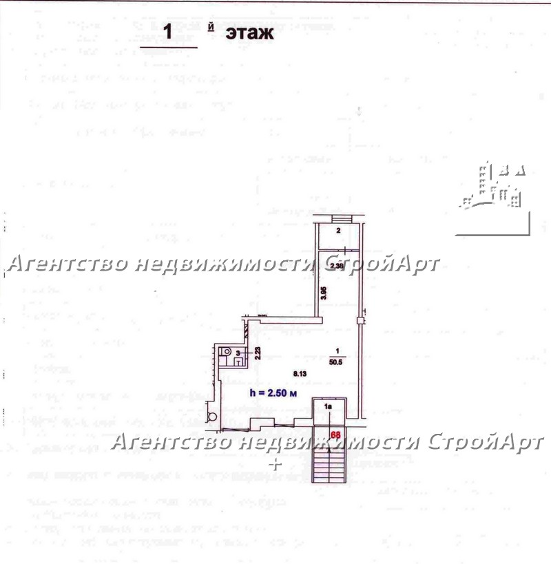 7734 Аренда  помещения 59 кв.м ул. Новинки 4, без комиссии