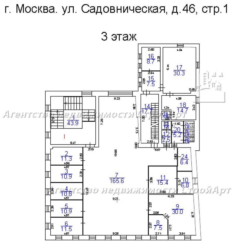 7779 Аренда особняка 1700 кв.м ул. Садовническая д.46 без комиссии