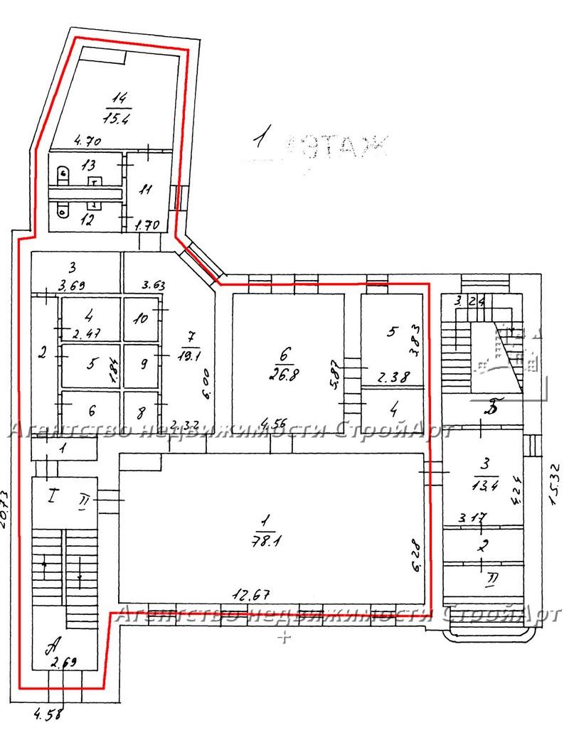 7812 Аренда помещения под банк Проспект Мира д.62 без комиссии