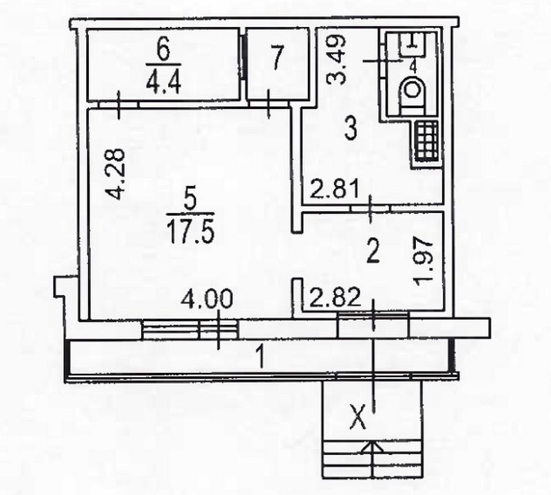 7833 Аренда помещения под банк 41,5 кв.м  м. Строгино, Строгинский бульвар, д.7, корп.1 без комиссии