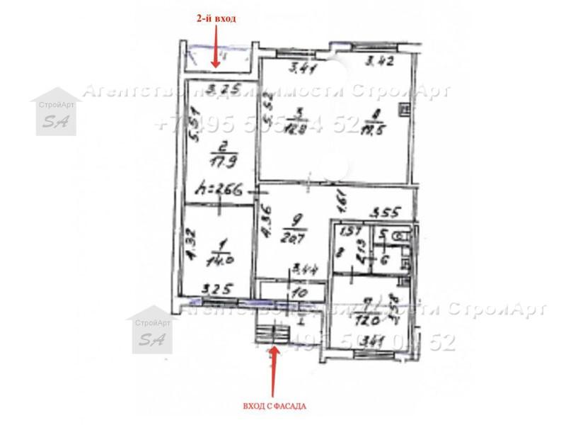 7857 Аренда помещения под банк 112 кв.м м. Митино, Митинская д.27 без комиссии