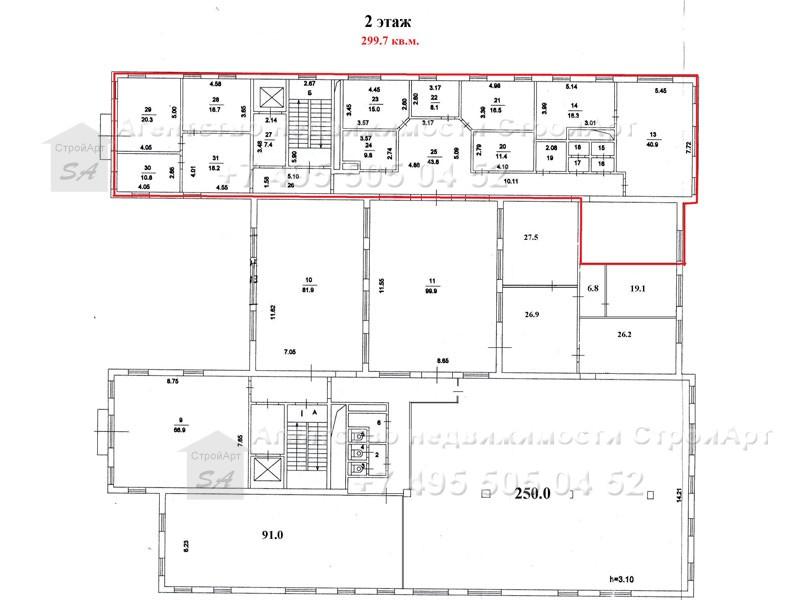 7863 Аренда помещения под банк Б. Ордынка д.40, 874 кв.м без комиссии