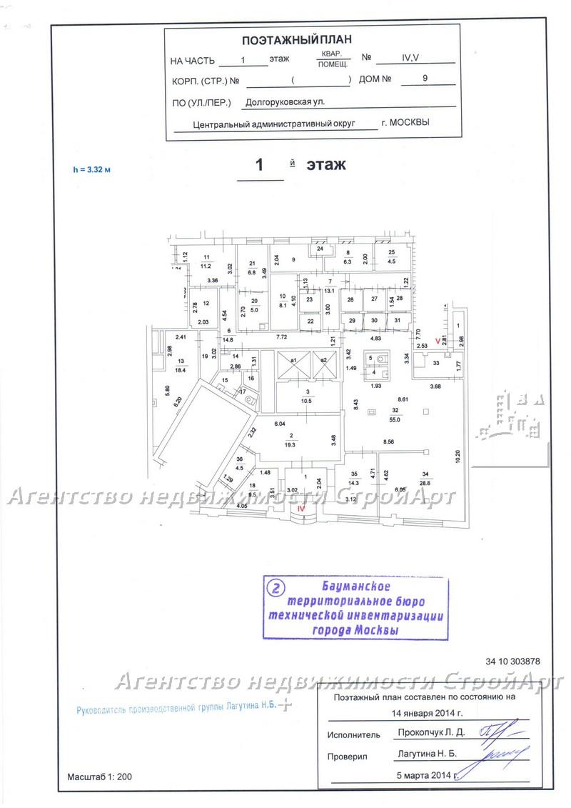 7985 Аренда особняка под банк Долгоруковская9, площадью 3188 кв.м без комиссии