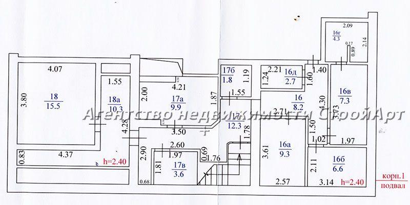 2040 Аренда помещения банка Бибиревская 10к1, 225 кв.м