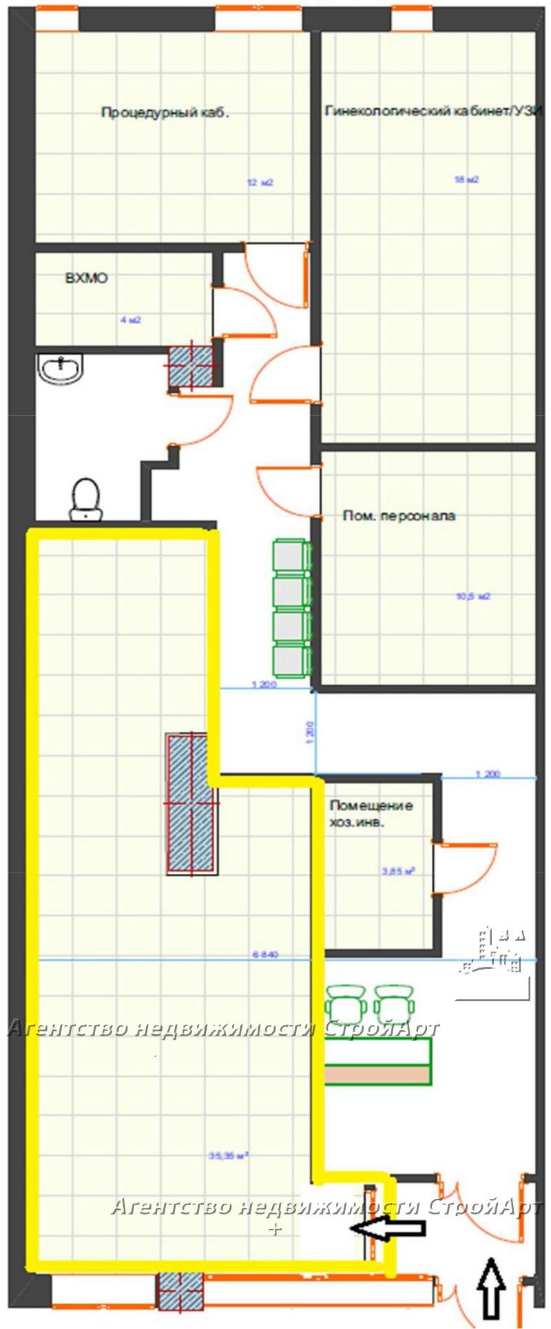 5024 Аренда помещения  м. Бауманская, ул. Ладожская д.8, без комиссии