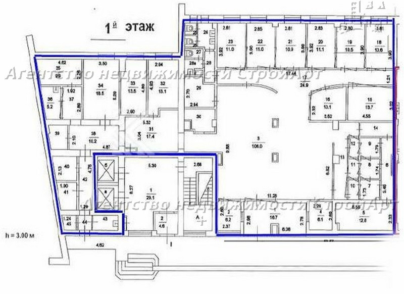 5059 Аренда помещения под банк Средний Тишинский пер. 28, 480 кв.м без комиссии