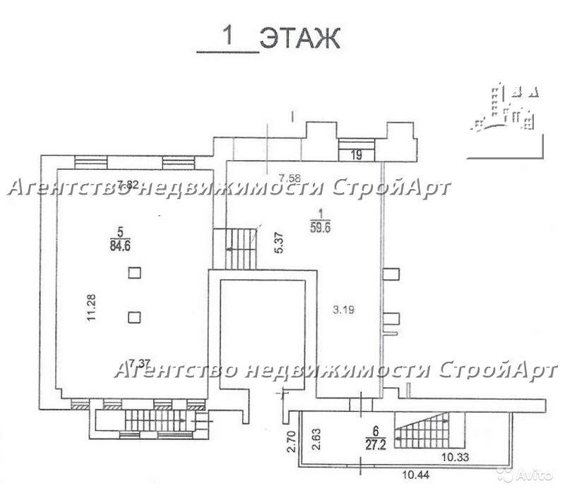 5103 Аренда банковского помещения Проспект Мира 71с1, 173 кв.м без комиссии