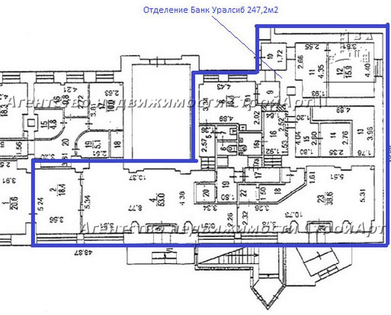 5120 Аренда помещения под банк м. Динамо, Ленинградский пр. 44, 247 кв.м без комиссии