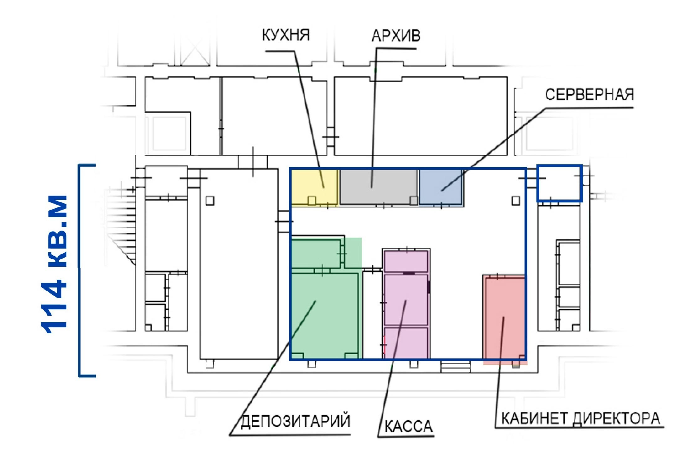 5122 Аренда помещения под банк Средняя Калитниковская улица, 26/27с1,  без комиссии