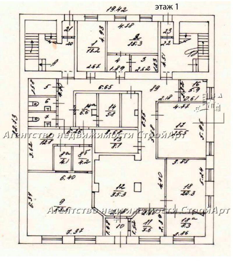 5123 Аренда помещения под банк ул. Покровка 43 с1, от 332 до 1042 кв.м без комиссии