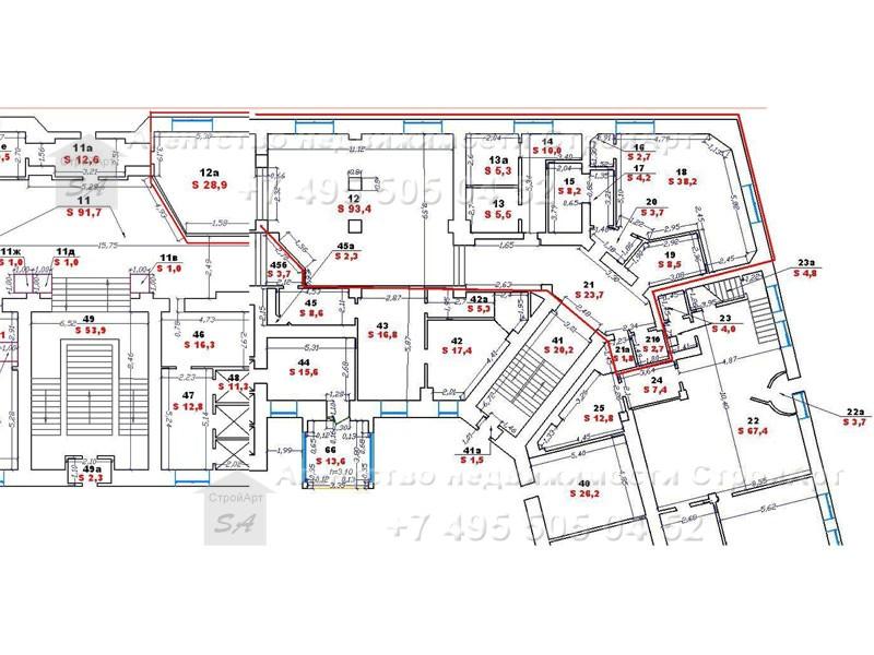 7112 Аренда помещения под банк Орликов пер.д.5, 236 кв.м без комиссии