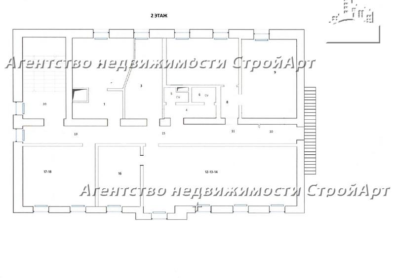 7134 Аренда особняка под банк м. Курская, Полуярославский пер. 12, 811 кв.м без комиссии