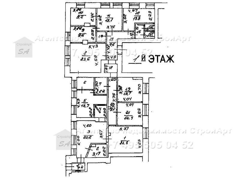 7307 Аренда помещения под банк м. Аэропорт, Ленинградский пр., д.60, 208 кв.м от собственника