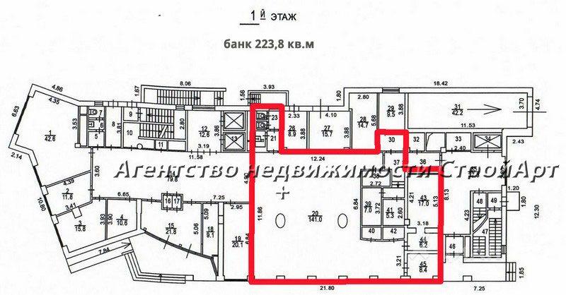 7527  Аренда помещения под банк м. Таганская,  пер. Маяковского, 11 без комиссии