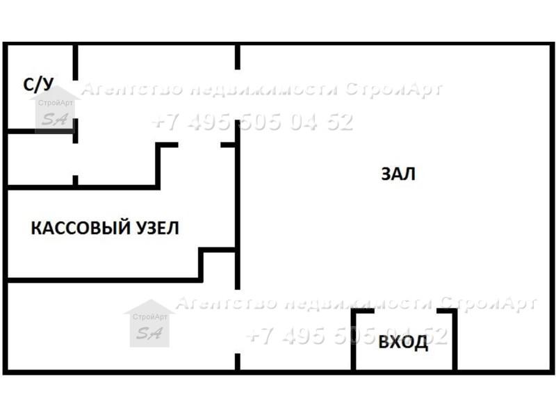7582 Сдается в аренду банковское помещение 47кв.м на Чистопрудном бульваре, без комиссии