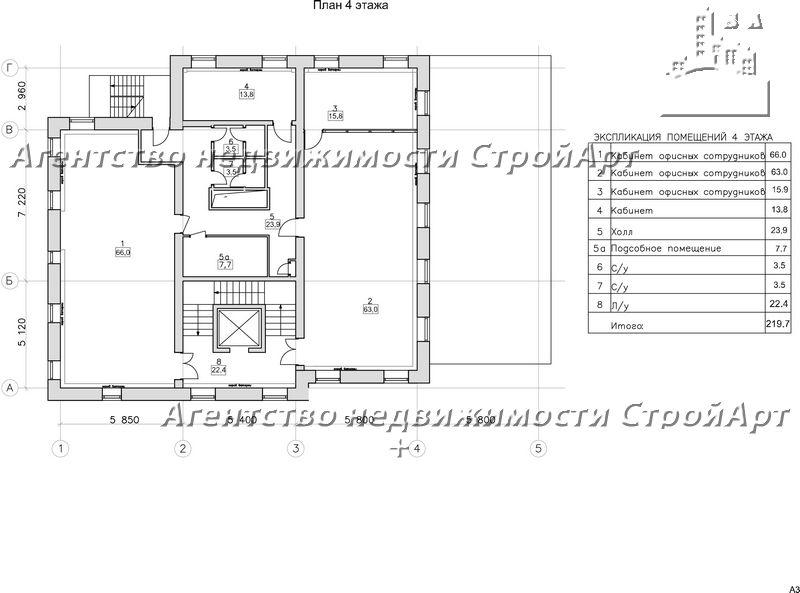 7605 Аренда особняка под банк Аптекарский пер. 1498 кв.м без комиссии!