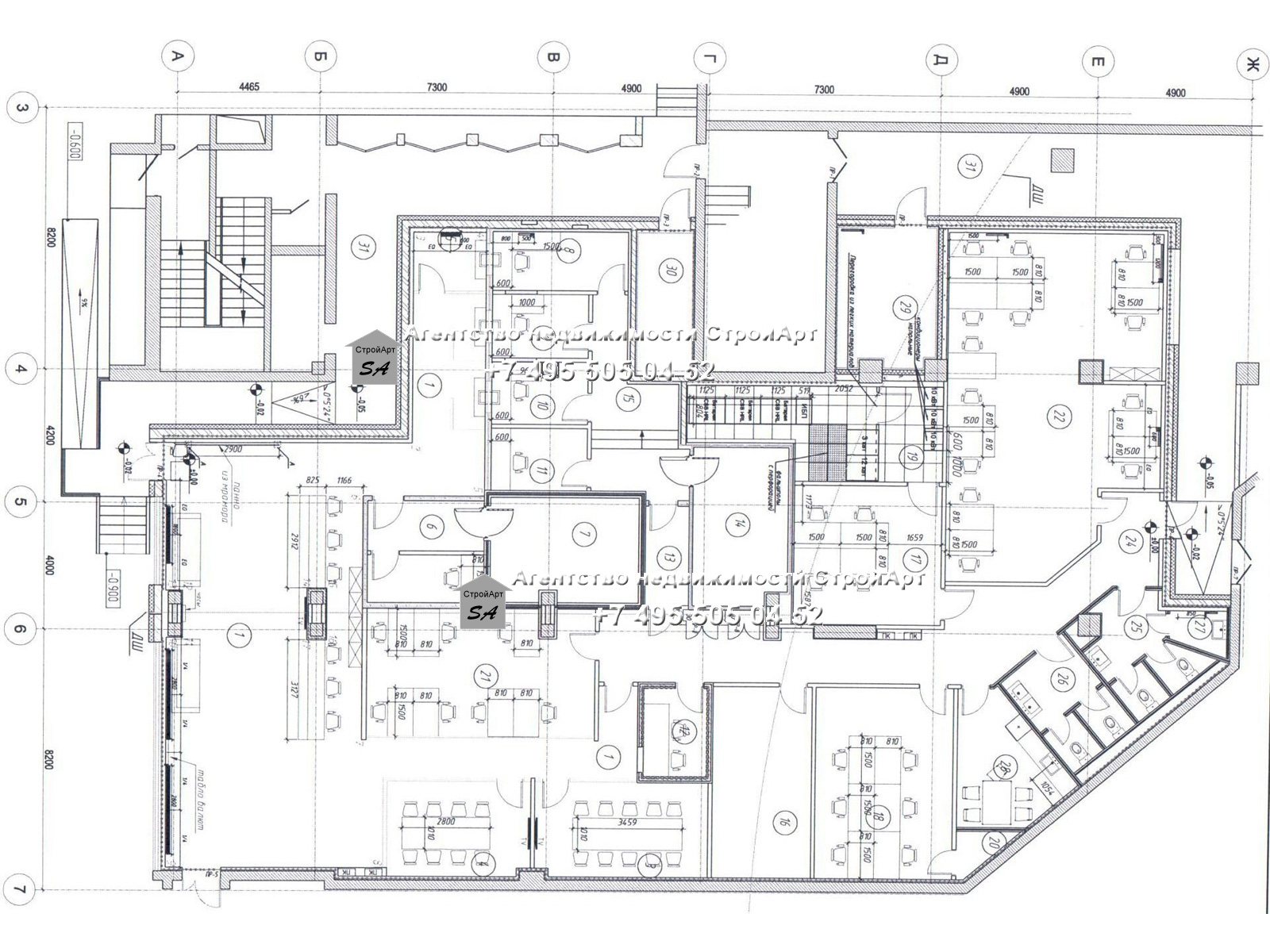 7660 Аренда помещения под банк 668 кв.м м. Южная, Варшавское шоссе д.118 к 1, без комиссии