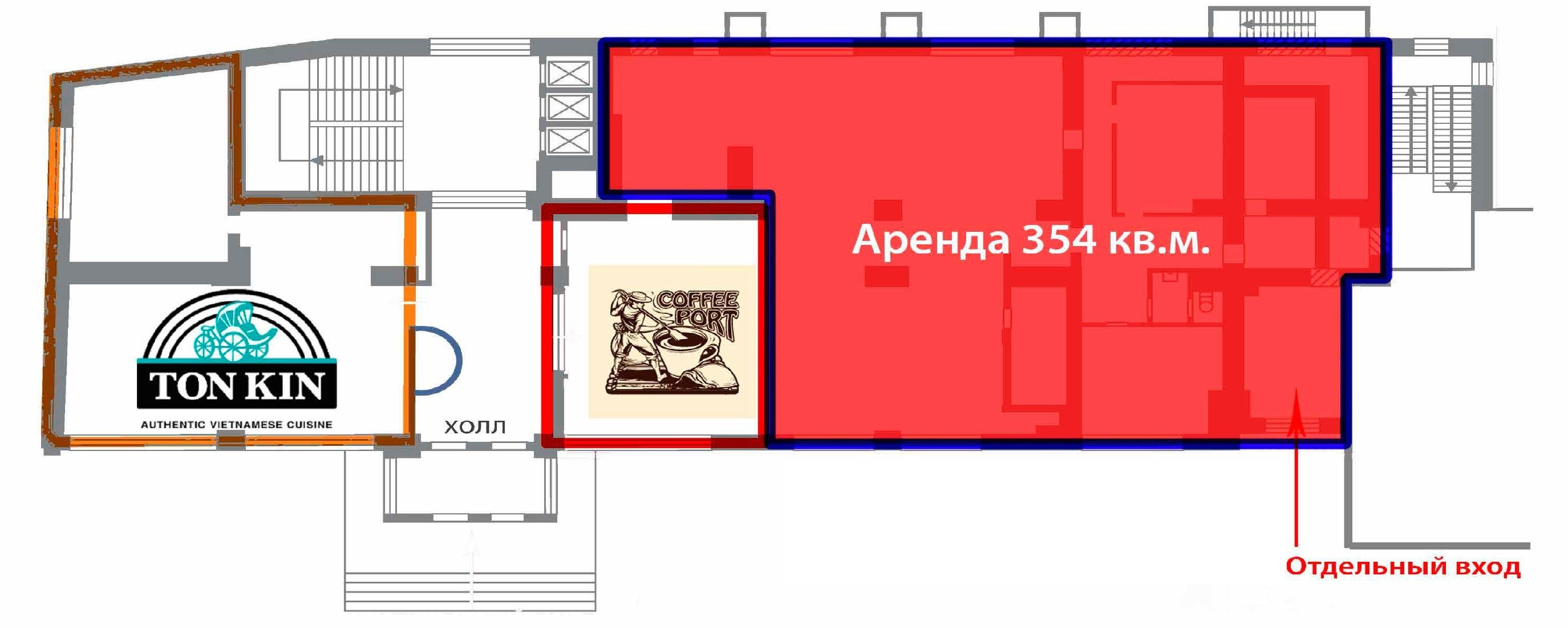 7770 Аренда помещения на Садовом кольце 354кв.м. Земляной вал д.50Ас3 без комиссии