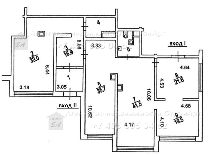 7810 Аренда помещения под банк 189 кв.м м. Беляево, Профсоюзная д.104 без комиссии