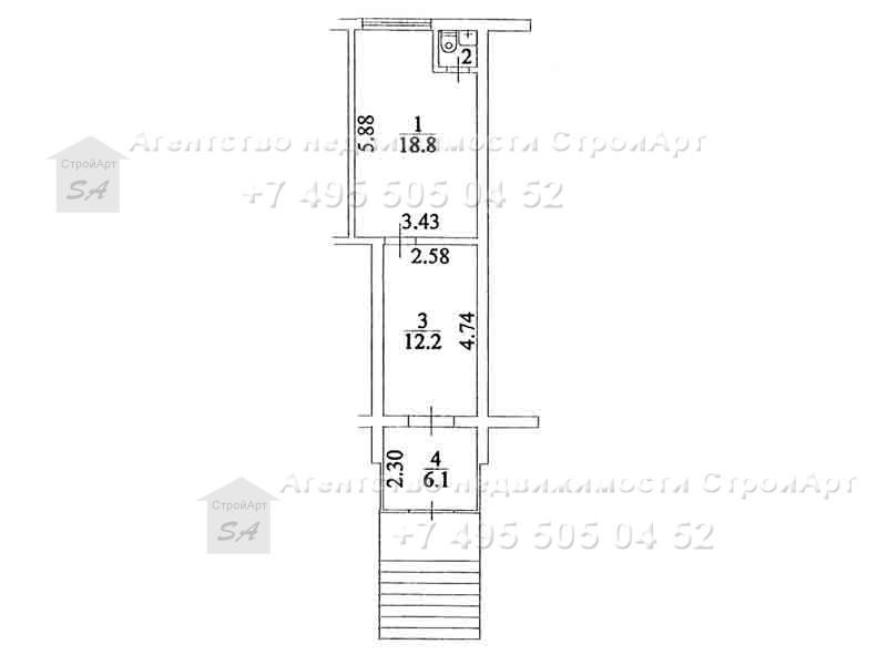 7860 Аренда помещения под банк 38 кв.м Северный бульвар д.2 без комиссии