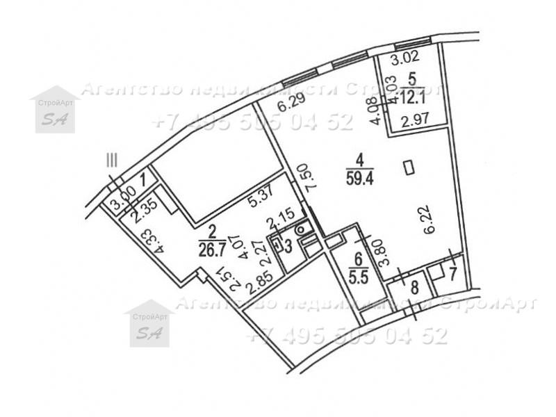 7879 Аренда помещения под банк Петровско-Разумовская аллея 10с2, 115 кв.м без комиссии
