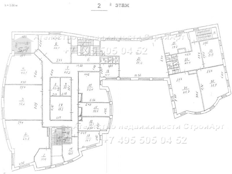 7933 Аренда особняка под банк 3301 кв.м Гончарная 15, без комиссии