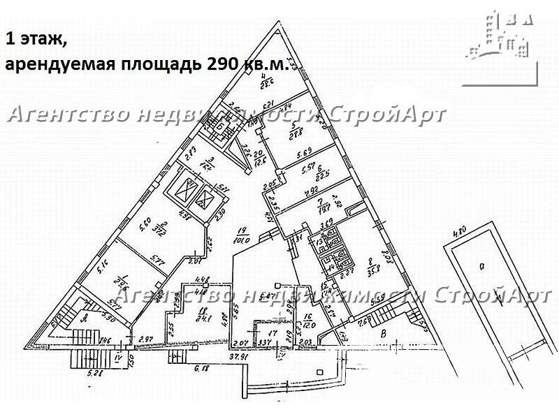 Аренда здания под банк В.Красносельская 3г, 2700 кв.м. без комиссии